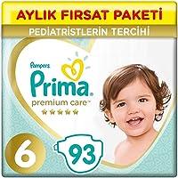 Prima Bebek Bezi Premium Care, 6 Beden, 93 Adet, Junior Aylık Fırsat Paket i 1 Paket (1 x 3.52 g)
