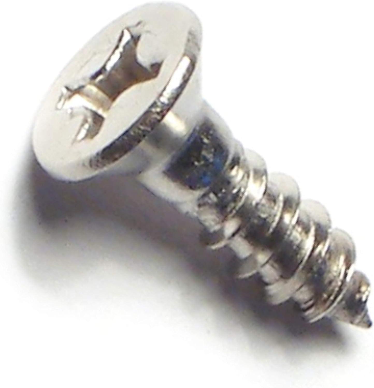 Piece-40 6 x 1//2 Hard-to-Find Fastener 014973195793 Phillips Flat Wood Screws