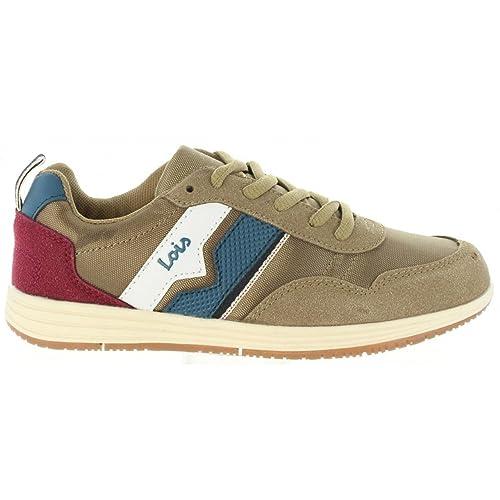 Zapatillas Deporte de Niño y Niña LOIS JEANS 83775 43 Camel: Amazon.es: Zapatos y complementos