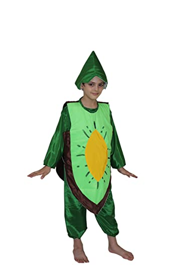 6a14504c643 Kaku Fancy Dresses Kiwi Fruits Costume for School Annual Function Theme  Party Competition Stage Shows Dress  Amazon.in  Toys   Games