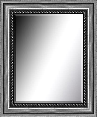 Crystal Art Masterpiece Art Gallery 16 X20 Silver Clarence Mirror w 3 Bevel, 16 x 20