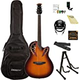 Ovation Celebrity Elite Solid Spruce Top Acoustic-Electric Guitar Kit with ChromaCast Accessories, Sunburst
