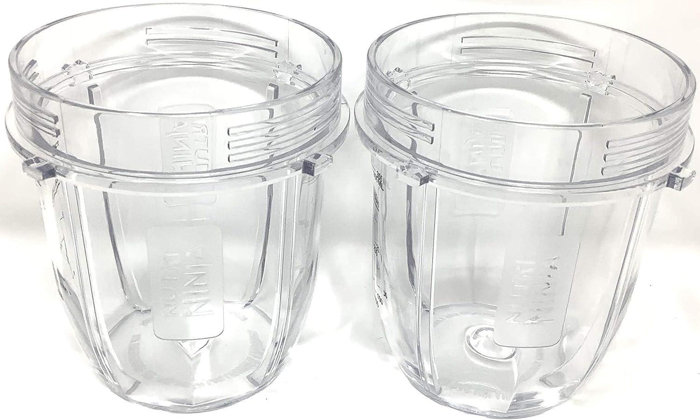 Genuine Nutri Ninja 2-Pack 12oz Tritan Cup for Auto-iQ BL451 BL455 BL481 BL486 BL491 BL492 BL642 BL682 BL685 BL682 BL687 BL2013 NN100 Blender
