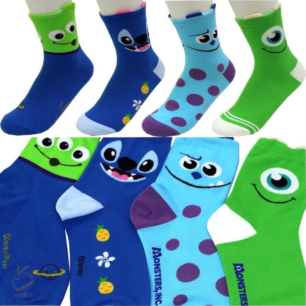 Boy's 4pk Low-Cut Socks Monsters, Inc. Alien Mike Sulley Lilo & Stitch Stitch Disney Socks Gift