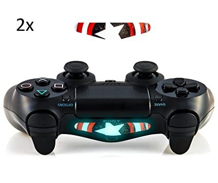 Amazon gizmoz n gadgetz gng 2x led captain america light bar gizmoz n gadgetz gng 2x led captain america light bar decal sticker for playstation 4 aloadofball Images