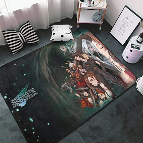 ErnestineDavis Final Fantasy VII Non-Slip Area Rugs Home Decor Floor Mat Living Room Bedroom Carpets Doormats 3' X 5'