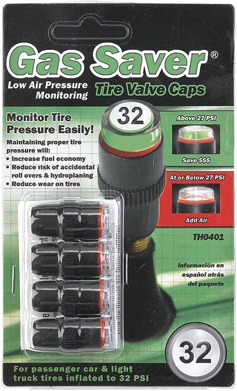Amazon Com Legado Th0401 32 Psi Valvula De Gas Saver Baja Presion De Aire Indicating Tire Cap Automotive