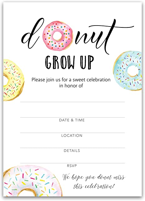 Donuts Birthday Invite Donuts Birthday Invitation Donuts Birthday Donuts Birthday Invitation PLASTIC Donuts Birthday