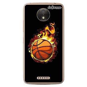 dakanna Funda para Motorola Moto C   Balón de Baloncesto en Llamas ...
