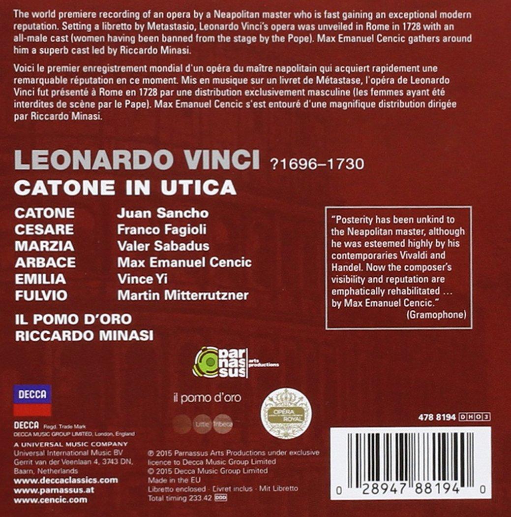 d46ad7d47fda Vinci  Catone in Utica  Amazon.co.uk  Music