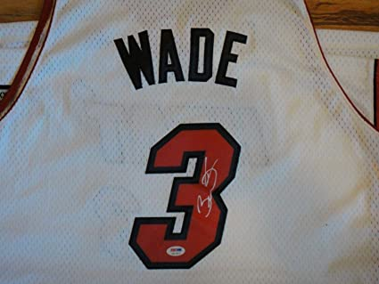 ee7a73813 Image Unavailable. Image not available for. Color  Signed Dwyane Wade Jersey  ...