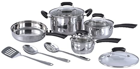 Amazon.com: SPT 11pc Acero Inoxidable Utensilios De Cocina ...