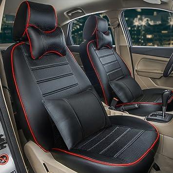 VOLKSWAGEN TOUAREG-Resistente Negro Resistente Al Agua Simple Cubierta de asiento de coche 1 Delantero