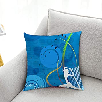 Amazon.com : Lywey 2019 Fashion Yoga Exercise Polyester Pillow Case Waist Throw Cushion Cover Home Decor : Beauty