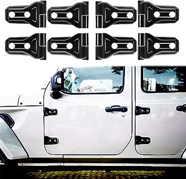 Black Car Exterior Decoration Door Hinge Cover for 2018 Jeep Wrangler JL Accessories 4 Door