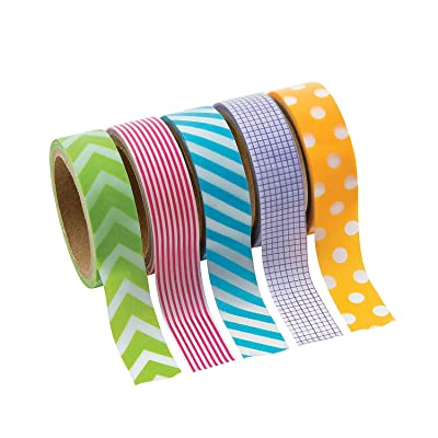 Primary Patterned Washi Tape - Crafts for Kids and Fun Home Activities: Toys & Games
