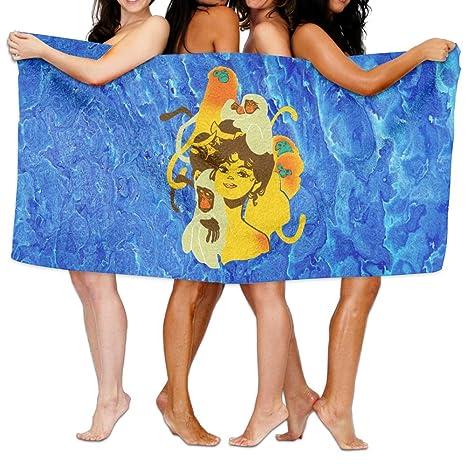De la Mujer Cottton Grace belleza chica con monos toallas de baño ducha Wrap