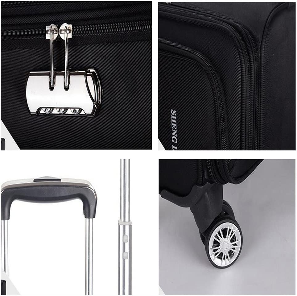 Suitcases 19 inch Leather Silent Universal Wheel Luggage,Built-in TSA Lock Boarding The Chassis