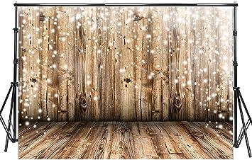 Amazon.com: Sensfun - Fondo de fotos de madera rústica para ...