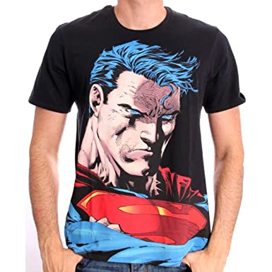75710be9c6cd1 Cotton Division - Superman by Jim Lee T-shirt - S: Amazon.co.uk: Clothing