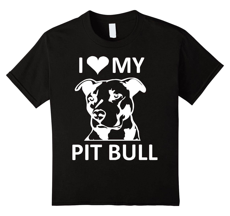 heart Pitbull T shirt pitbull Black-Teeae