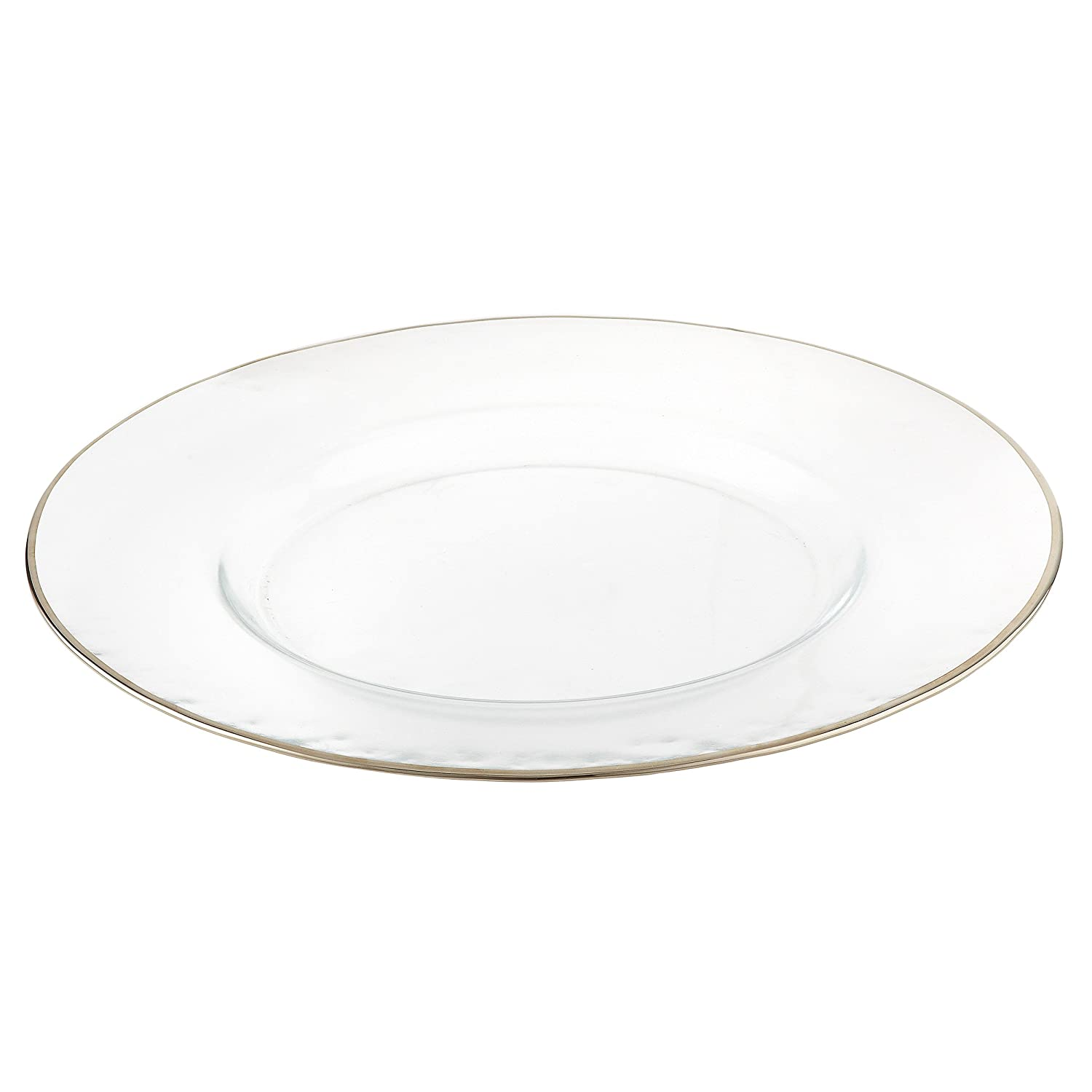 Elegance-31122-Set of 4 Silver Rim Chargers 13-Inch Leeber Limited