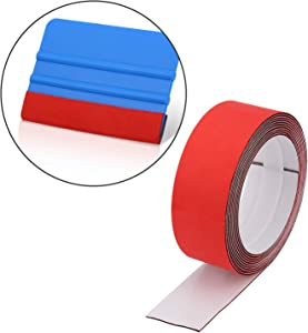 Gomake Big Buffer Micro Felt for All Kind of Plastic Squeegee, DIY Squeegee Wings Protector, Vinyl Wrap Tools, 4CMx300CM