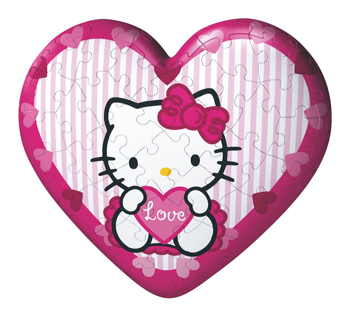 4 Different Designs Ravensburger Hello Kitty Heart 11405 puzzleball 60 Pieces