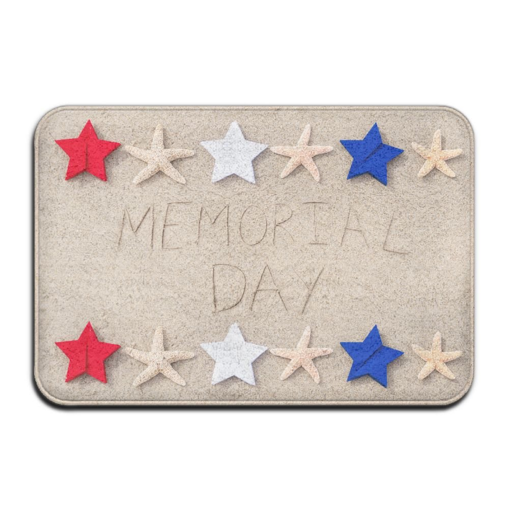 BINGO BAG Star Memorial Day Indoor Outdoor Entrance Printed Rug Floor Mats Shoe Scraper Doormat For Bathroom, Kitchen, Balcony, Etc 16 X 24 Inch by BINGO BAG