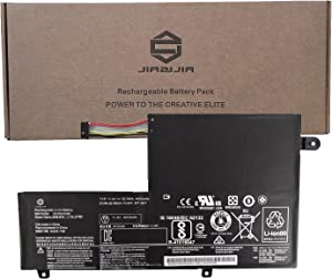 JIAZIJIA L15L3PB0 Laptop Battery Replacement for Lenovo Flex 3 Flex 4 1470 1570 1480 1580 Edge 2-1580 Series L15M3PB0 L14L3P21 L14M3P21 L14M2P21 L14L2P21 Type-C Black 11.4V 52.5Wh 4610mAh 3-Cell