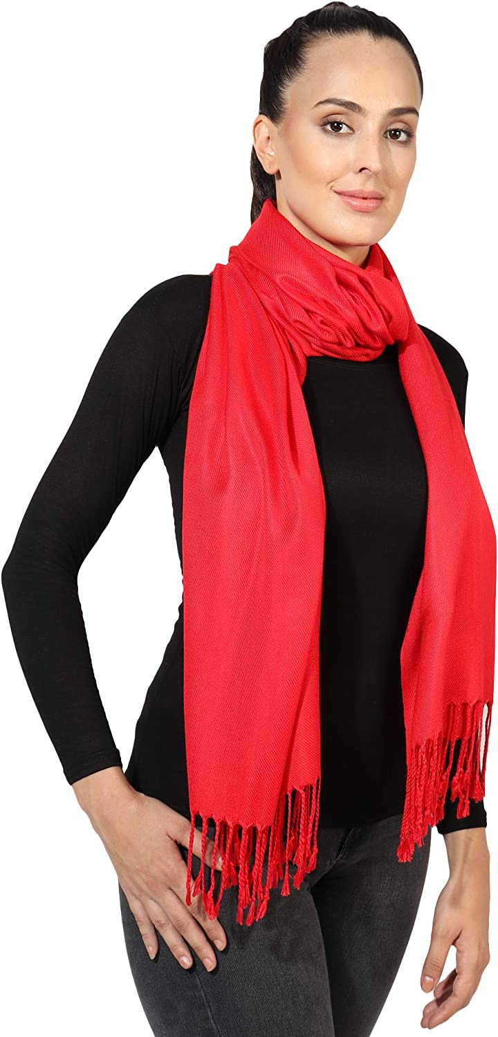 Pashmina Style All Seasons Handcrafted Wrap Shawl Stole Scarf by World of Shawls