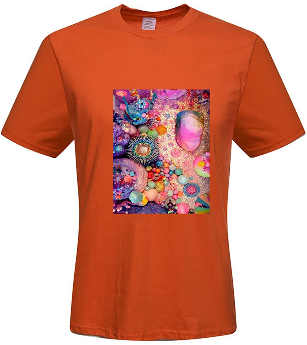 43bed96b0 Amazon.com: CUSTOM Orange Tee Shirt for men - Anchor T shirt L: Clothing