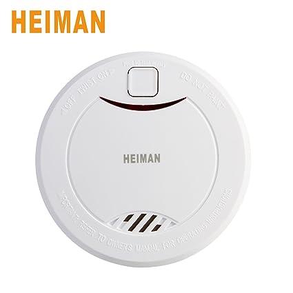 heiman® 10 años litetime construido en batería de litio Independiente Detector de humo detector de