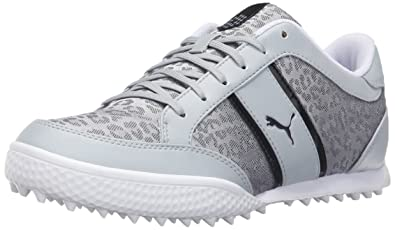 PUMA Women's Monolite Cat Wmns Mesh Golf Shoe, Quarry White/Polyurethane,  ...