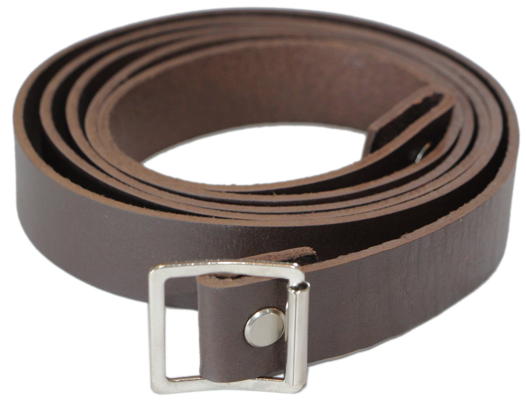 Indiana Jones Leather Bag Strap/Rifle Sling by Magnoli Clothiers (Dark Brown) by Magnoli Clothiers
