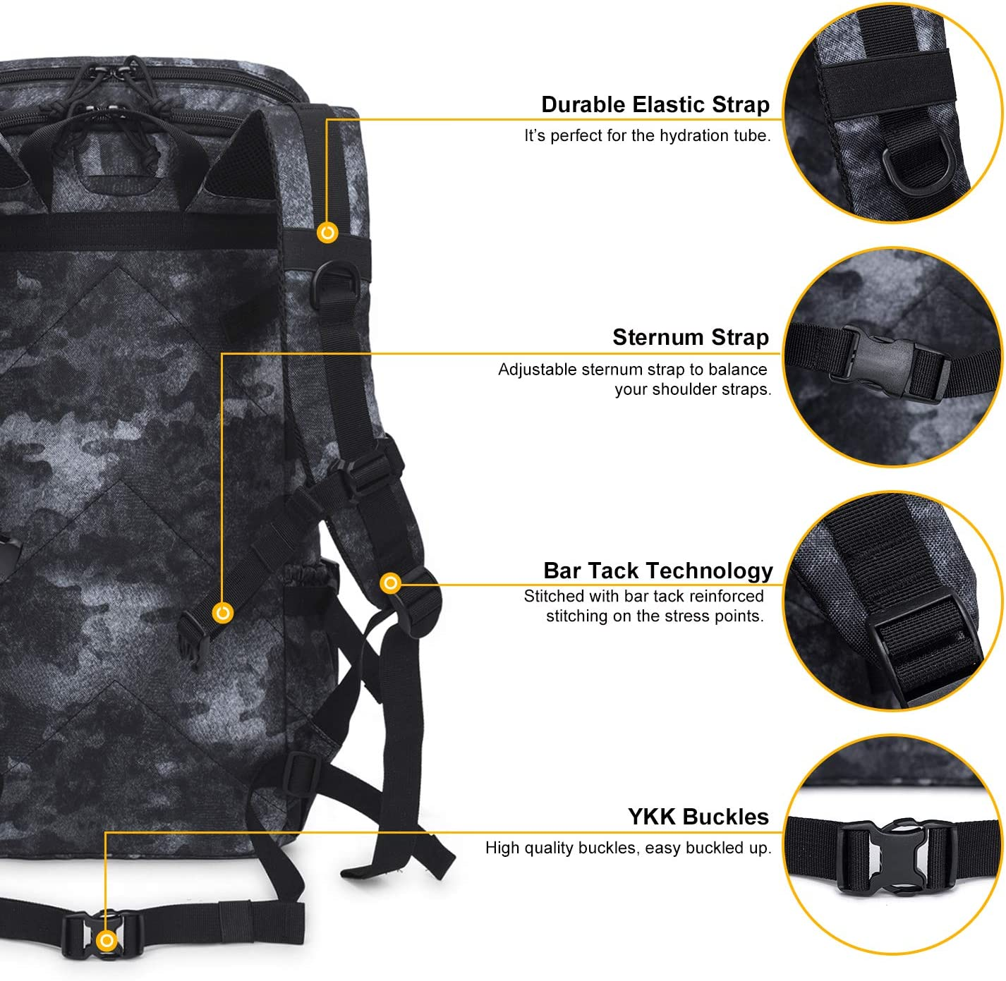 Mardingtop 28L//35L Tactical Backpack Assault Trekking Rucksack Military Backpack for Men and Woman Motorcycle pack Daypack
