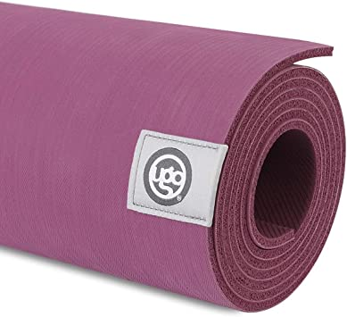UGO Rubber Yoga Mat 71 x 26 Inch Extra Large Reversible Non-Slip Texture for Meditation/Hot Yoga/Pilates/Fitness Exercise (5MM)