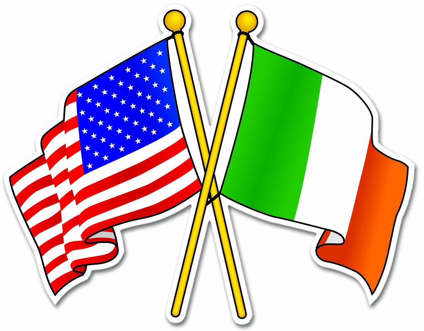 amazon com irish usa flags ireland car bumper sticker decal