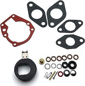 CBK Carburetor Carb Repair Rebuild Kit with Float for Johnson/Evinrude 1.5 2 3 5 5.5 6 7.5 10 15 18 20 HP 439071 0439071 18-7043 383052 398532