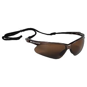 Jackson Safety V30 Nemesis Polarized Safety Glasses (28637), Polarized Brown Lenses, Brown Frame