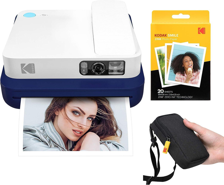 10 Sheets Compatible with Kodak Smile Classic Instant Camera Kodak 3.5x4.25 inch Premium Zink Print Photo Paper