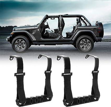 BORDAN Jeep Wrangler Grab Handles Front Metal Roll Bar Handles Kit for 2018-2020 Jeep Wrangler JL /& Gladiator JT