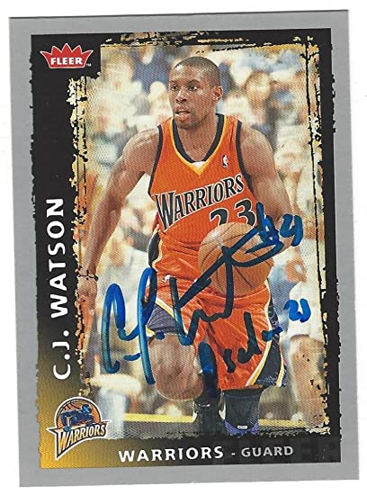 207162b9a236 C.J. Watson Golden State Warriors Autographed Trading card at ...