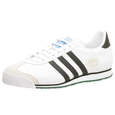 adidas Originals Men's Italia 74 Training Shoe, White/Black/Ivy, ...