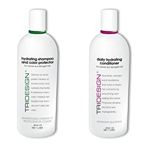 TRI Hydrating Shampoo and Color Protector and Daily Hydrating Conditioner Liter Set