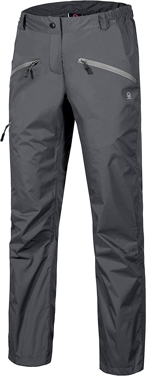 Little Donkey Andy Women's Lightweight Waterproof Breathable Rain Pant