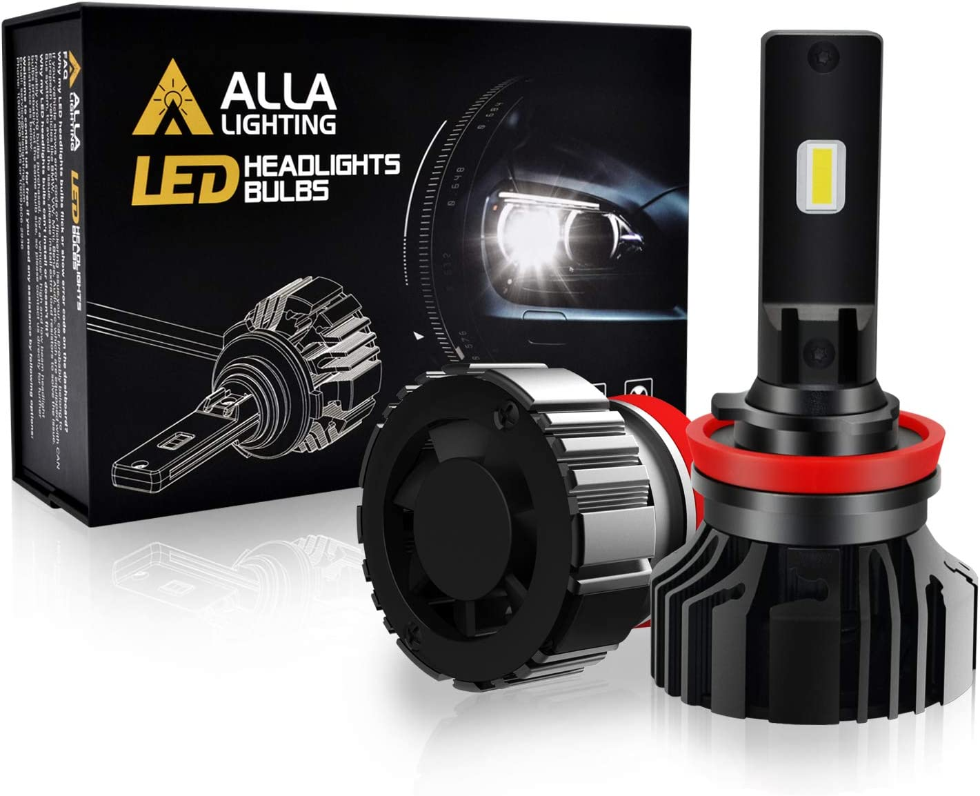 Alla Lighting Newest Nashville-Davidson Mall TXH H8 Today's only H9 H11 Bright Xtreme Bulbs LED Super