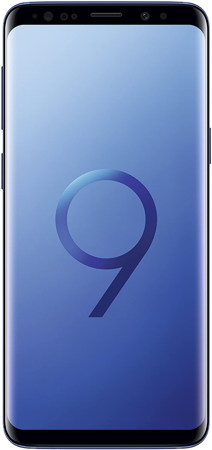 Samsung Galaxy S9 (SM-G960F/DS) 4GB / 64GB 5.8-inches LTE Dual SIM (GSM Only, No CDMA) Factory Unlocked - International Stock No Warranty (Coral Blue, Phone Only)