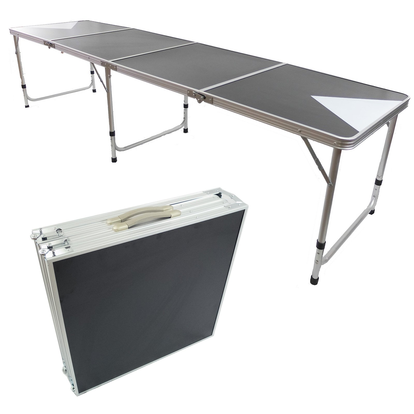 NEW 8' BEER PONG TABLE ALUMINUM PORTABLE ADJUSTABLE FOLDING INDOOR OUTDOOR TAILGATE PARTY GAME #3 by PONGBUDDY