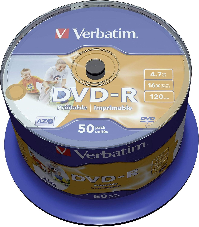 Verbatim 16x Dvd R 4 7gb Iw 50 Spindle Printable Baumarkt